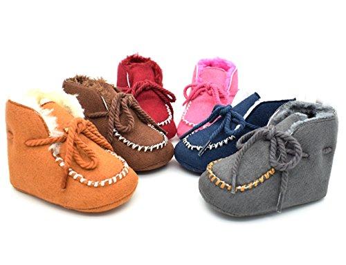 Baby Shoes-molle del bambino Sole Snow Boots morbida Presepe scarpe stivali bambino (0-6M, Combination 3)