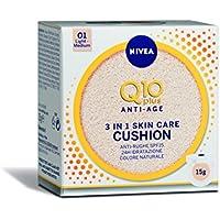 Nivea Q10 Plus Anti-Age 3 in 1 Skin Care Cushion Chiaro, Colore Naturale