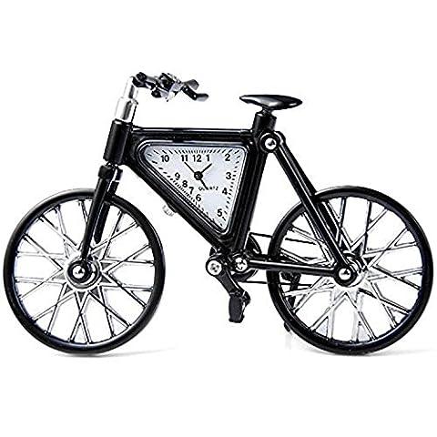 paracity (TM) COUPE-CABRIOLET/Guitare/vélo/avion/Pegasus Cheval Corps Montre à quartz en acier inoxydable cadran rond, Bicycle Black, Bicycle