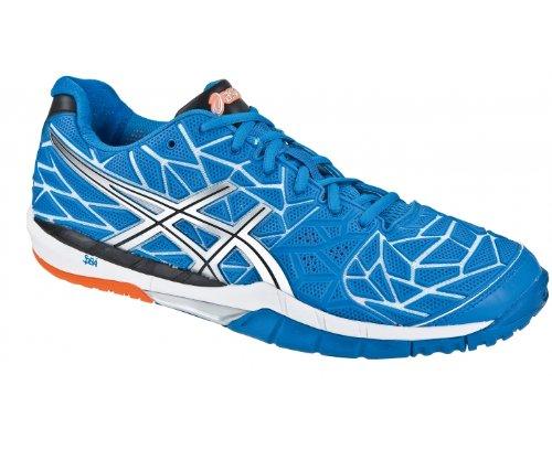 Asics Gel Fireblast E328N4290, Chaussures handball Bleu (Bleu/gris/argent/blanc)