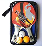 #1: Super Quality 2 TABLE TENNIS RACKETS & 3 BALLs with Outer Cover