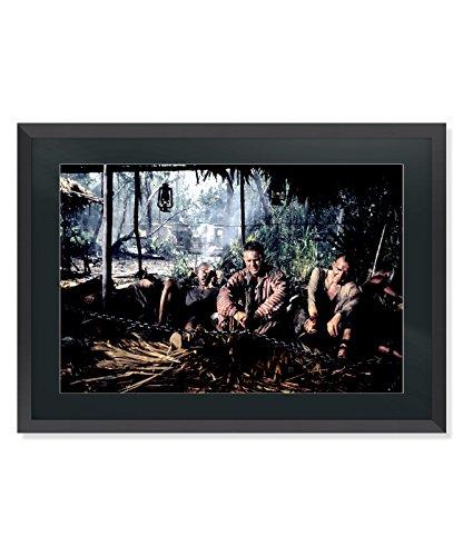 Classic Photo Editions Kunstdruck Steve McQueen Dustin Hoffman Papillon, gerahmt, groß, Black Frame Black Mount, 21.9 inches x 30.3 inches - 55.8cm x 77.2cm
