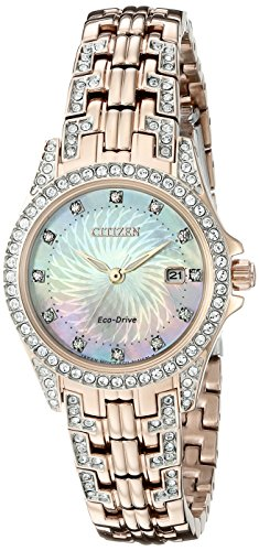 Citizen Eco-Drive Femme Ew1228–53d Silhouette Cristal Montre