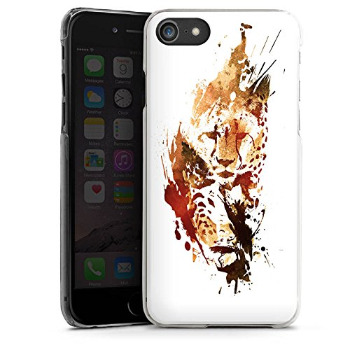 Apple iPhone X Silikon Hülle Case Schutzhülle Gepard Street Art Leo Hard Case transparent
