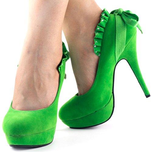 Show Story , Semelle compensée femme Vert - vert
