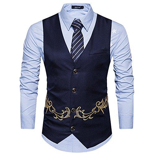 männer im Anzug, Weste, Weste, Weste für männer mit Bestickt,Die Marine in Tibet,M -