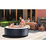 Intex G FR 28410EX Pure Spa 6 Places Rond Bulles LED, 1098 L, Bleu Marine, 216 x 71 cm