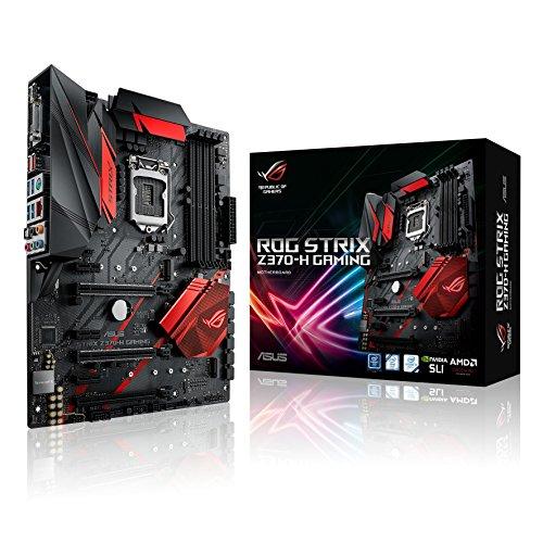 Asus ROG STRIX Z370-H Gaming Scheda Madre, Nero
