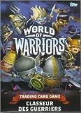 world of warriors classeur des guerriers; ce kit comprend: guide du collectionneur, tapis de jeu, classeur de rangement, 1 paquet de cartes, 1 carte édition limitée
