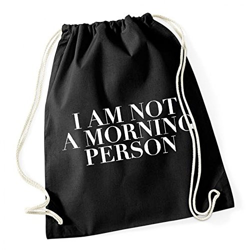 Certified Freak I Am Not A Morning Person Gymsack Black -