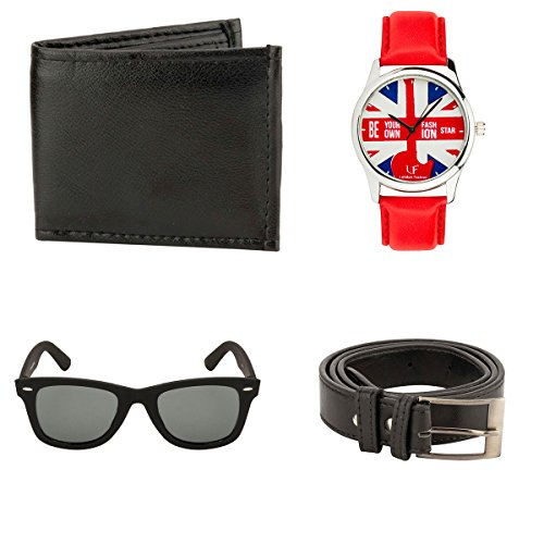 Mango People ComboBlack Belt, Wallet, Sunglass & Watch