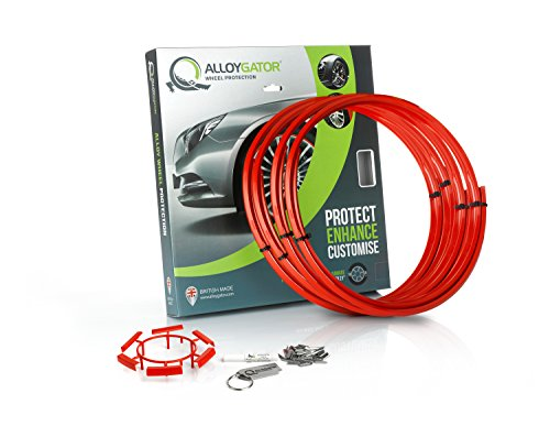 Set of 4 AlloyGator Wheel Protectors (RED)