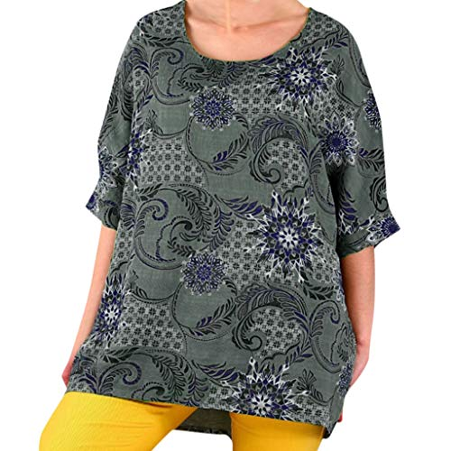 Damen T-Shirt Sommer Kurzarm V-Ausschnitt Druck Muster Lose Basic Oberteile Casual Tops Shirts Sweatshirt Pullover Bluse Oberteile Oversized Top T Shirt