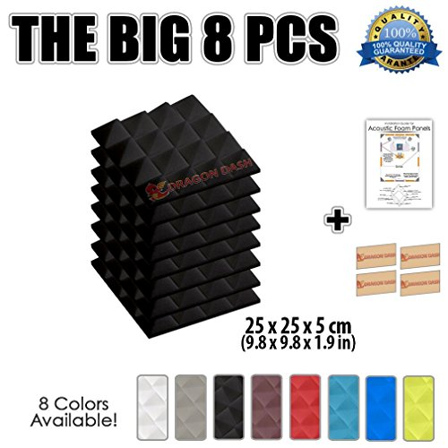 super-dash-pacco-da-8-of-25-x-25-x-5-cm-nero-piramidali-fonoassorbenti-isolanti-studio-acustici-pare