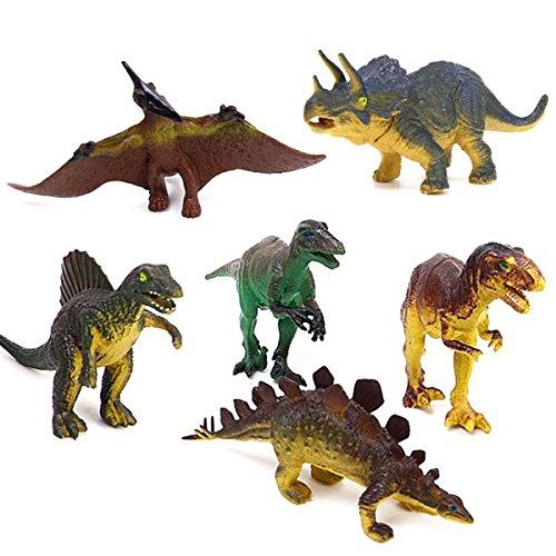 Azlinc-Dinosaures-Figurines-Jouer-Jouets-pour-Enfants-Garons-et-Filles-Tyrannosaure-Stegosaurus-Triceratops-Utahraptor-Spinosaurus-Ptrosaure-ensemble-de-6-Jouet-de-dinosaure