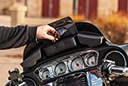 Kuryakyn 5261 Batwing Fairing Storage Pouch Bag with Magnetic Closures for 2014-19 Harley-Davidson Motorcycles