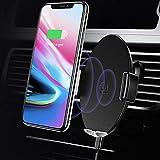 USAMS Induktion Handyhalterung fürs Auto, Automatisch Qi Kfz Handy Halterung Induktiv Wireless Charger Handyhalter Lüftung für XS Max/XR/X/8 Plus, Samsung Galaxy S9+/S8/S7/S6 Edge/Note 8/5 (Schwarz)