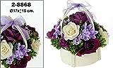 DonRegaloWeb - Cesta - Centro de flores en colores violeta con cesto