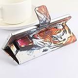 Baiwei Easbuy Bunt Pu Leder Kunstleder Flip Cover Tasche Handyhülle Case Mit Halterung und Karte Slot für Elephone P6000 P6000 PRO (Mode 6)