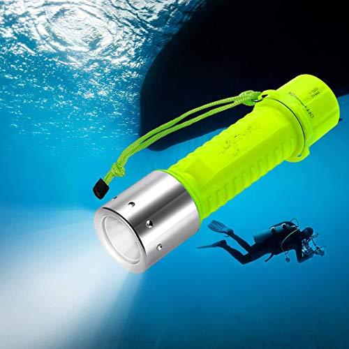 Linterna de Submarinismo 1000 Lúmenes,Linterna Buceo Impermeable IPX8, Linterna Sumergible XM-L2 LED Luz para Exterior Cámping Pescar