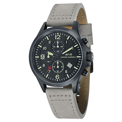 AVI-8 AV-4001-08 Mens Hawker Hurricane II Light Grey Chronograph Watch