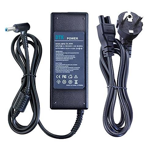 DTK Chargeur Adaptateur Secteur pour HP : 19.5V 4.62A 90W Connecteur: 4.5*3.0mm Alimentation pour ordinateur portable