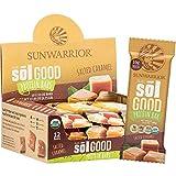 Sunwarrior Sol Good Vegan Organic Protein Bars, Salted Caramel
