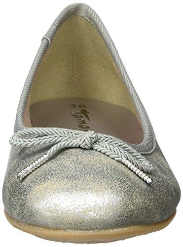 Tamaris 22123, Ballerine Donna Argento (Silver)