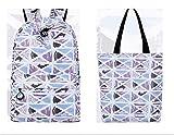 Winnerbag Casual wasserdichte Frauen Rucksack geometrische Muster Drucken großer Kapazität Girls College Laptop Rucksack Lila set 14 Zoll