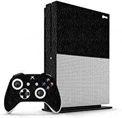 GADGETS WRAP Xbox One S Black Textured Leather Skin for Console & Controller