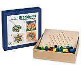 Unbekannt Egermann EH211/230 - Steckspielbrett Holzsteckspiel Stern, Kleinkindspielzeug