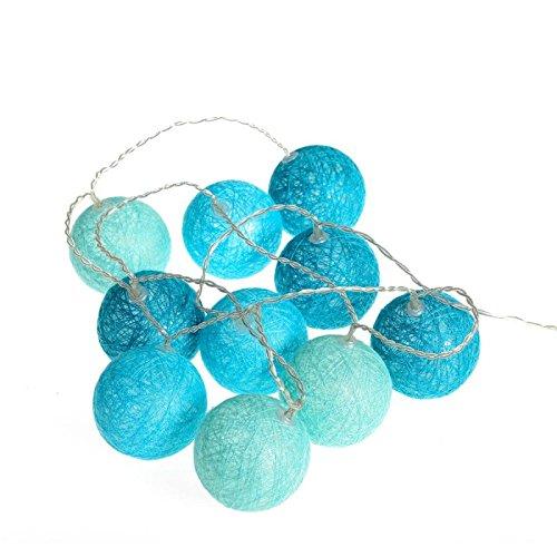 AC-Déco Guirlande LED 10 Boules - D 6 cm - Bleu