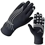 ATTONO Unterziehhandschuhe Winter Jogging Running Walking Langlauf Auto Handschuhe - M/L