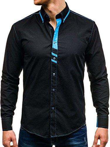 BOLF - Chemise casual – avec manches longues – BOLF 6908 – Homme Noir
