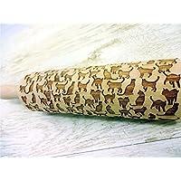 Nudelholz mit KÄTZCHEN für hausgemachtes Gebäck. Präge Teigrolle. Geschenk für Katzenliebhaber. Katzen. Graviertes Nudelholz. Engraved rolling pin. Fondant. Gravierte Teigroller