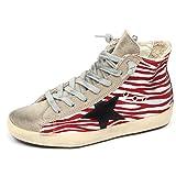 Golden Goose E8384 Sneaker Bimba Girl Francy Scarpe Grey/Red Vintage Shoe [31]