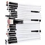 Vovotrade 20 PC Verfassungs-Bürsten-Satz-Tools Make-up Körperpflege -Set Wolle Make-up-Pinsel-Set_Weiß