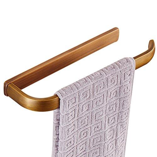 CASEWIND Toalleros de Aro o Anillo de Toallas Montado en Pared con Estilo Antiguo y Europeo, Cobre Latón de Color Oro, Accesorios de Baño