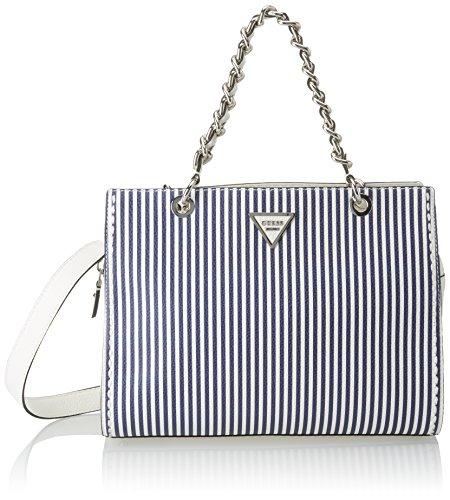 Guess Hobo, Borsa a Tracolla Donna, Multicolore (Blue Stripe), 14.5x25x33.5 cm (W x H x L) Multicolore (Blue Stripe)