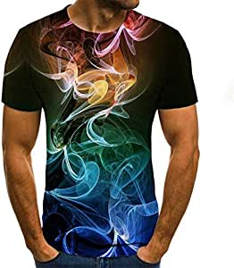 YMKXXB Herren T-Shirt Männliche 3D T-Shirts Drucken T Cartoon Shirts Männer Sommer Wassertropfen Tops Männer T-Shirts Lässige Streetwear 6XL 6XL Txu-1843