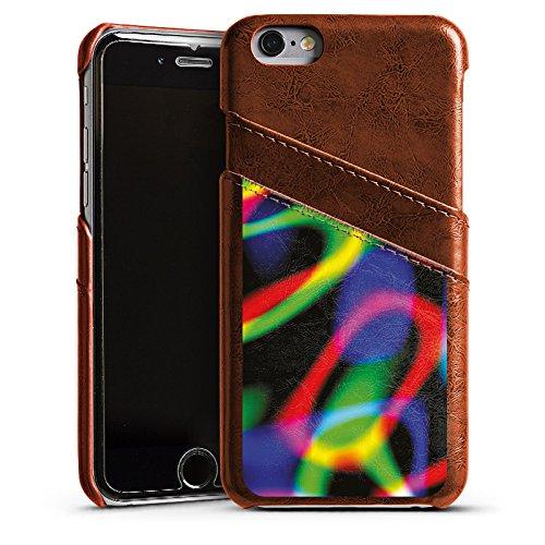 Apple iPhone 4 Housse Étui Silicone Coque Protection Laser Lumière couleurs Étui en cuir marron