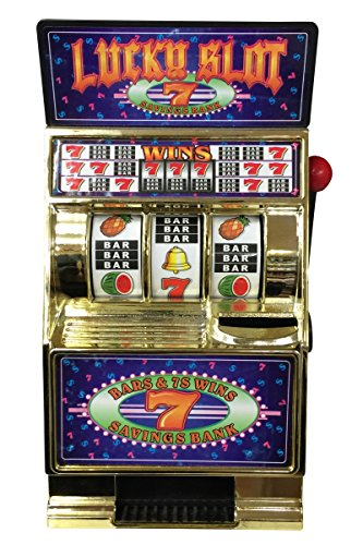 Casino Slots Jackpot Lucky 7 Slot Machine Geld Banken mit Spinnrollen Realistische Game Play Jackpot-Münze Return (Münze Banken)