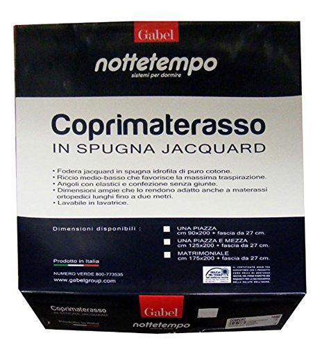 COPRIMATERASSO-1-PIAZZA-SINGOLO-SPUGNA-JACQUARD-CONFORT-NOTTETEMPO-GABEL