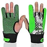 GGHY-Gants Guanto Eccellente Supporto da Polso per Palla da Bowling Grip Bowling Glove, 1 Paio Facile da Mettere/togliere (Color : Green, Size : L)