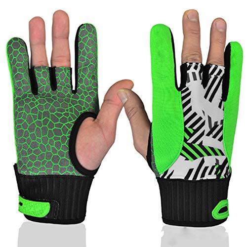 GHC Handschuhe & Fäustlinge Bowling Handschuh Bowling Ball Handgelenkstützhandschuh , 1 Paar (Color : Yellow, Size : L)