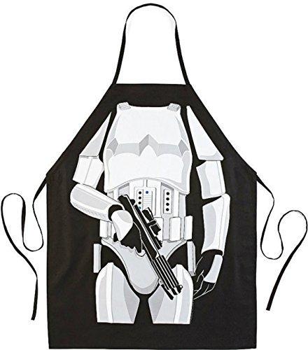 Küchenschürze, Grillschürze, mit Motiv Stormtrooper Star Wars, witzige Schürze, für die Küche