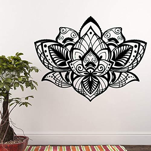 Yaoxingfu Hermoso Bohemian Lotus Tatuajes Pared Mandala