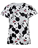 Disney Mickey Mouse Character All Over Print Women's/Ladies Boyfriend Fit T-Shirt