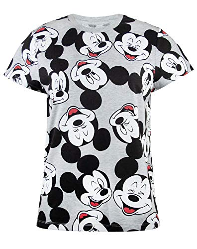 51ad6329260 Disney Mickey Mouse Character All Over Print Women s Ladies Boyfriend Fit  T-Shirt