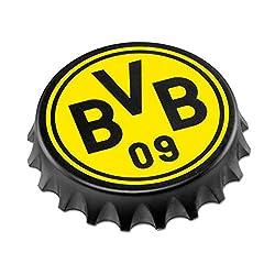 """BVB Flaschenöffner """"Kronkorken"""" mit Logo, Metall, Schwarz / gelb, 7.5 x 7.5 x 2 cm, 1 Einheiten"""